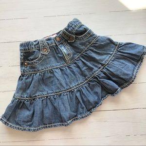GAP Tiered Denim Jean Skirt Size 2Y